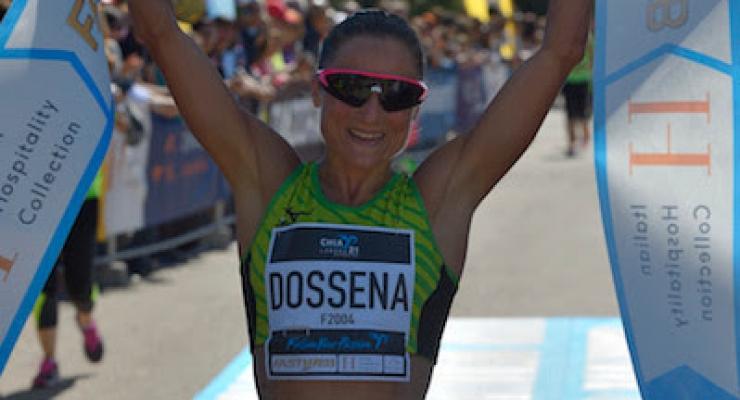 Sara Dossena e Daniele Meucci al via della Chia21
