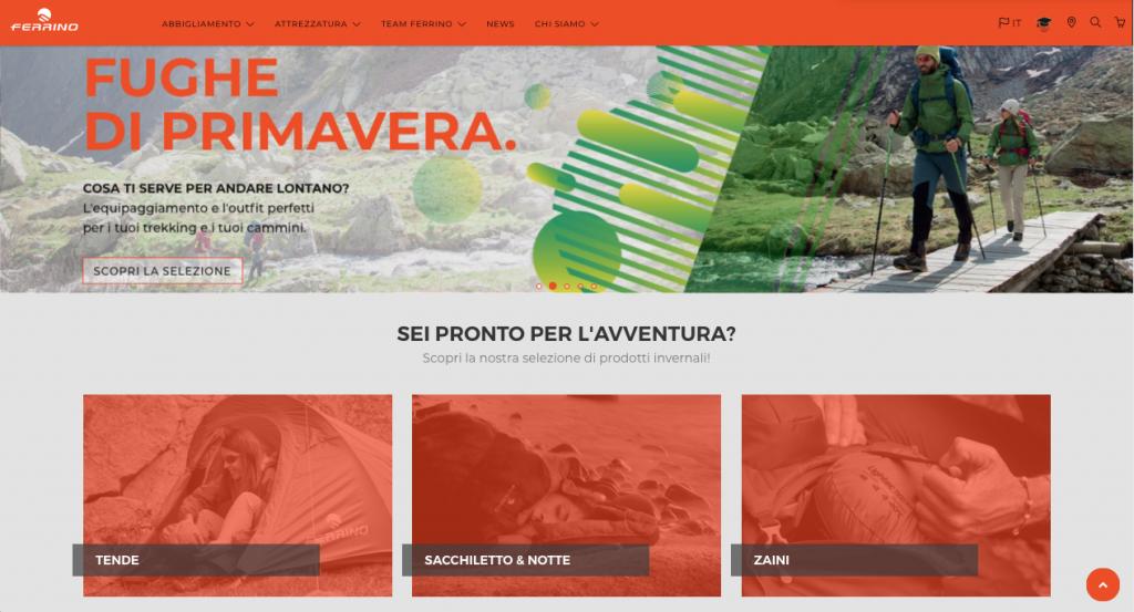 Online il nuovo portale web Ferrino 4