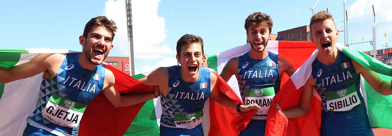 Klaudio Gjetja, Andrea Romani, Alessandro Sibilio ed Edoardo Scotti