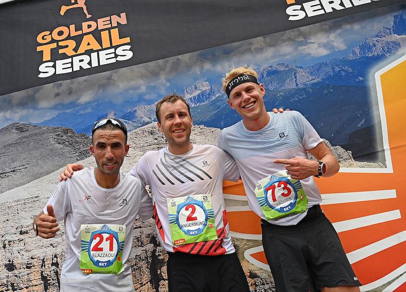 Il podio maschile (Elhousine Elazzaoui,Stian Angermund, Joey Hadorn)