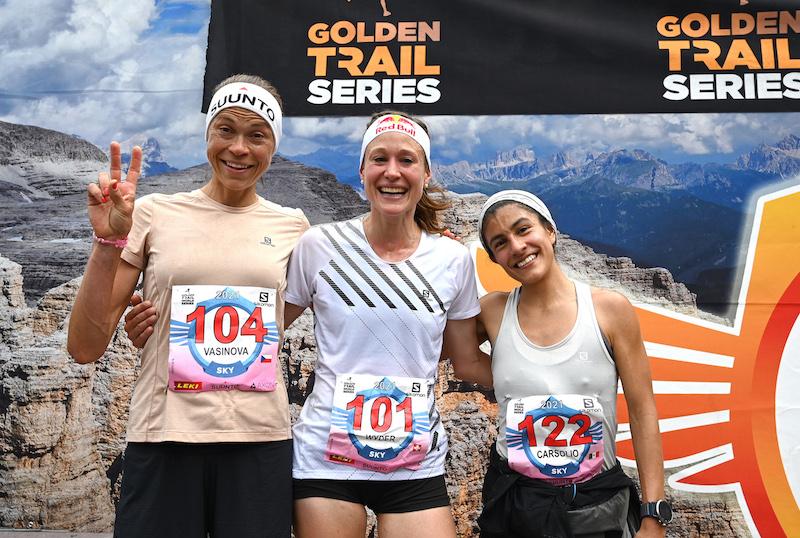 Il podio femminile (Marcela Vasinova,Judith Wyder, Karina Carsolio)